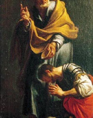 Peter Baptizing the Centurion Cornelius, by Francesco Trevisani, 1709.
