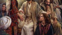Jesus at the home of Martha and Mary